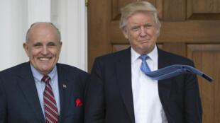Rudy Giuliani le 20 novembre 2016 dans le golf de Donald Trump de Bedminster, dans le New Jersey.