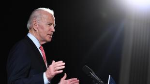 Esta foto del 12 de marzo de 2020 muestra al exvicepresidente de Estados Unidos, Joe Biden