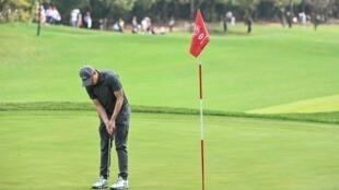 Le golfeur anglais Matthew Fitzpatrick, à Shanghai le 3 novembre 2019