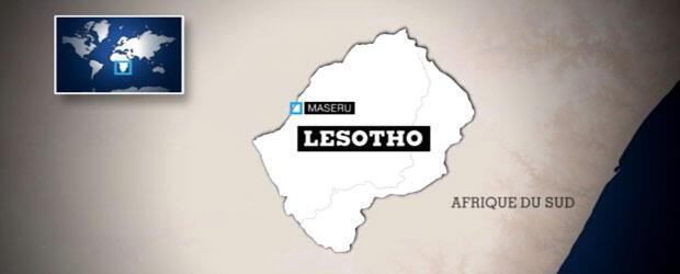 Lesotho, royaume de 30 000 km2 enclavé en Afrique du Sud.