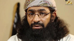 An image grab taken from a video released by Al-Malahem Media, the media arm of Al-Qaeda in the Arabian Peninsula (AQAP), shows Khaled Batarfi in a video posted online on June 15, 2015