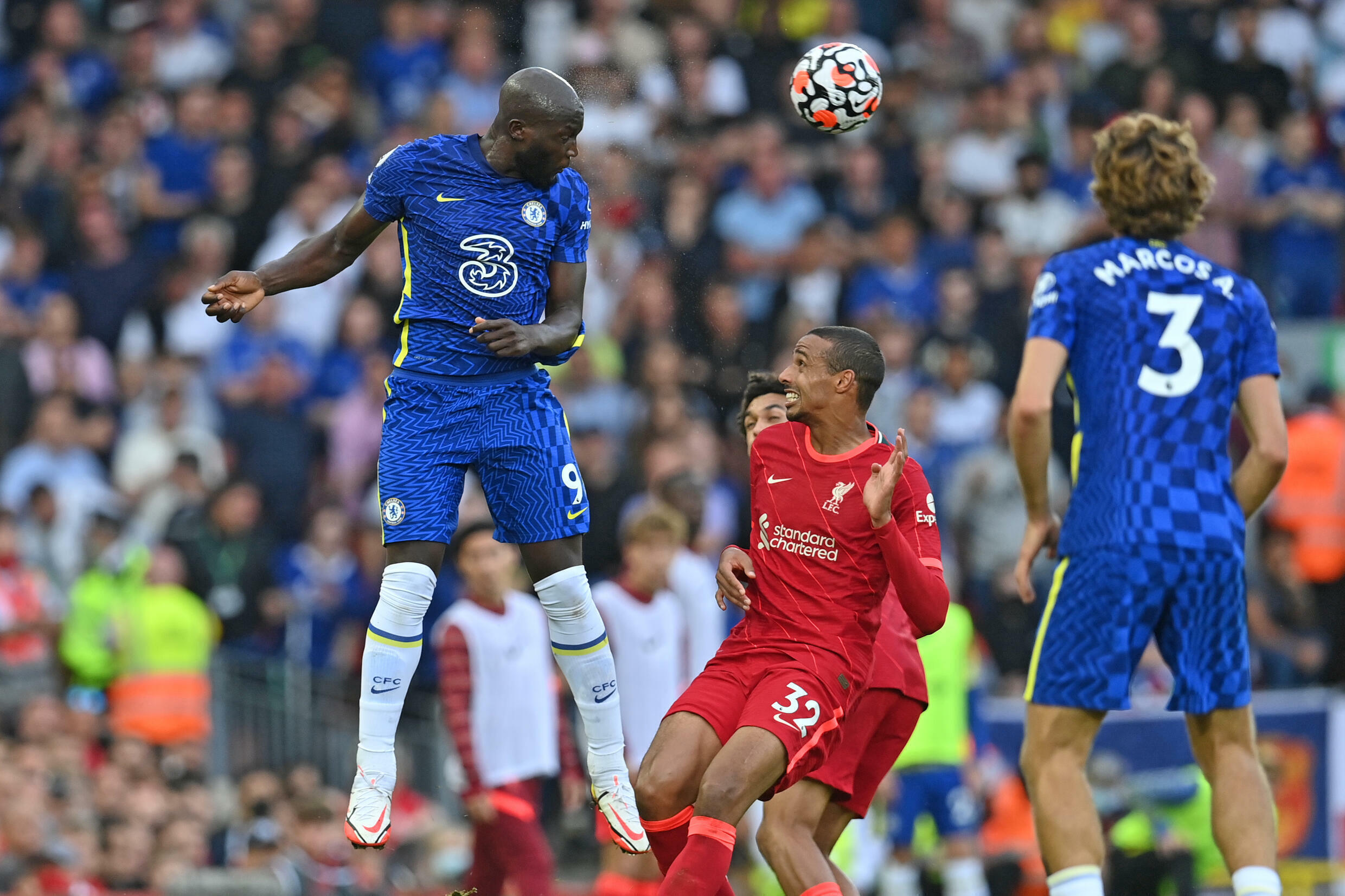 Chelsea held out with 10 men for a full half to draw 1-1 at Liverpool