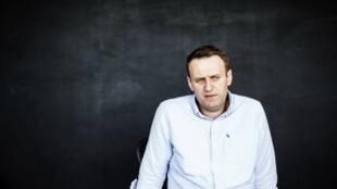 El abogado y bloguero anti-corrupción Alexeï Navalny en su oficina en Moscú, el 7 de julio del 2017.