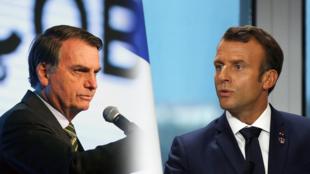 Les présidents Jair Bolsonaro et Emmanuel Macron se sont affronté verbalement lors du G7 à Biarritz, en août 2019, autour des feux de forêt en Amazonie.