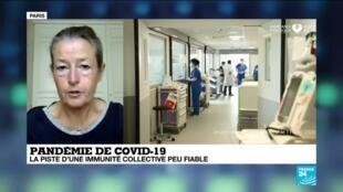 La professeure Odile Launay, infectiologue à l'hôpital Cochin à Paris, le 19 avril 2020.