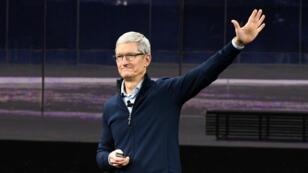 Tim Cook sur le campus d'Apple à Cupertino, le 12 septembre 2017.