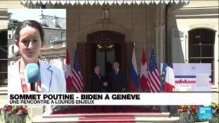 """2021-06-16 13:02 Sommet Poutine - Biden à Genève : des discussions """"sans détour"""" sont annoncées"""