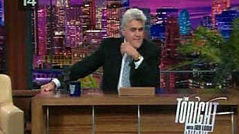 "Jay Leno on the set of ""The Tonight Show"""