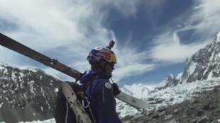 Andrzej Bargiel se convierte en el primer hombre en descender en esquí la montaña K2 con 8.611 metros, que se encuentra entre China y Pakistán, el 22 de julio de 2018.