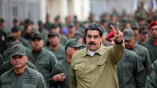 الرئيس الفنزويلي نيكولاس مادورو خلال عرض عسكري في كراكاس 30 يناير/كانون الثاني 2019
