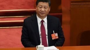 لرئيس الصيني شي جينبينغ في الجمعية الوطنية الشعبية في بكين في 09 آذار/مارس 2018