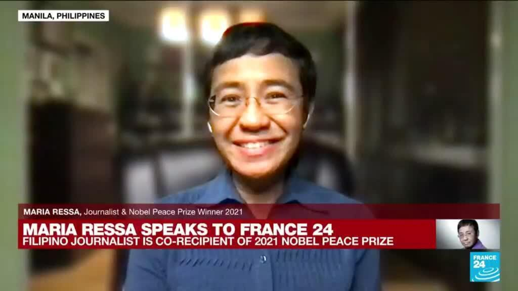 2021-10-14 14:00 'There is so much still left to do': FRANCE 24 speaks to Nobel Peace Prize laureate Maria Ressa