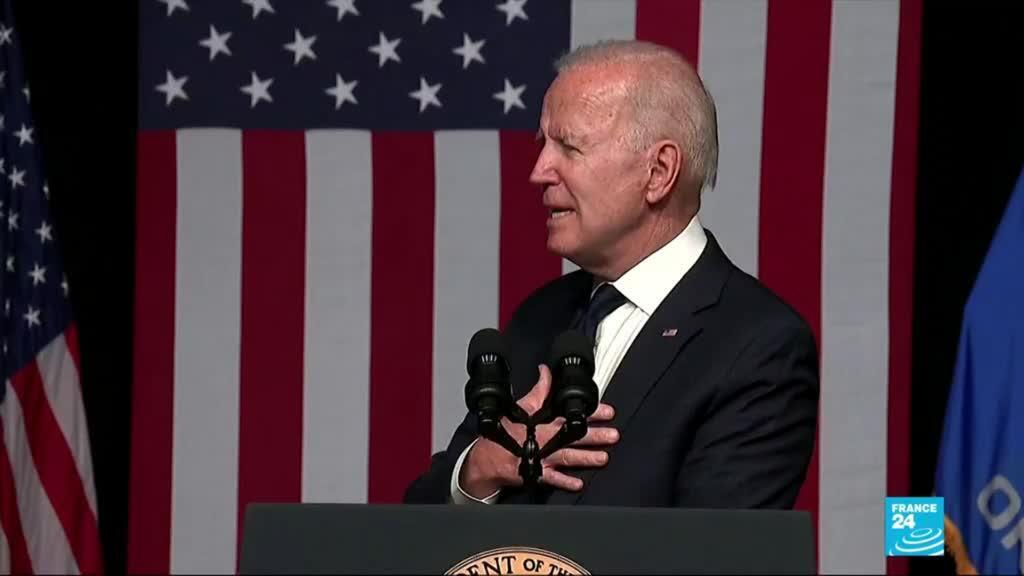 2021-06-02 09:02 Tulsa race massacre: Joe Biden marks 100th anniversary in emotional speech