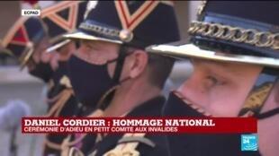 2020-11-26 15:27 Hommage national à Daniel Cordier : cérémonie d'adieu en petit comité aux Invalides