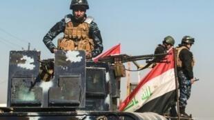 قوات عراقية في قرية البوسيف في 22 شباط/فبراير 2017