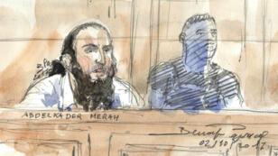 Abdelkader Merah, hermano de Mohamed Merha, autor del atentado de Toulouse de 2012, comparece ante un tribunal donde fue sentenciado a 20 años de prisión.