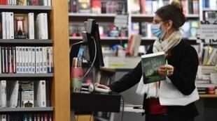 Une librairie à Brest lors de sa réouverture le 11 mai 2020