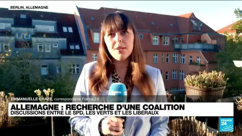 2021-10-07 10:07 L'Allemagne fait un pas vers une coalition entre SPD, Verts et libéraux