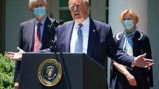 """""""We are looking to get it by the end of the year if we can, maybe before,"""" Trump said, as he delivered an update on the race for a vaccine"""