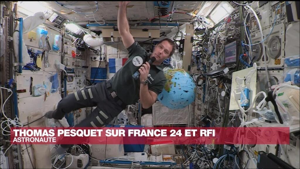 Exclusif : depuis l'ISS, Thomas Pesquet accorde depuis l'espace un entretien à France 24 et RFI