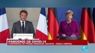 2020-05-18 17:06 REPLAY - Pandémie de Covid-19 en Europe : Visioconférence commune Macron - Merkel