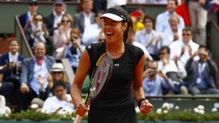 Ana Ivanovic laisse exploser sa joie sur le court central. Elle vient de rejoindre les demi-finales.