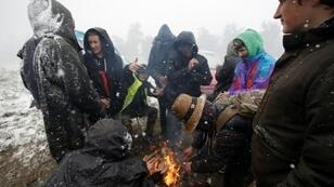 Participants at the Teknival music festival in Feniers, central France, were caught off guard by a spring snowstorm on Saturday, May 4