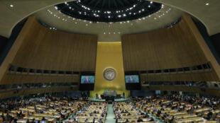 El presidente francés, Emmanuel Macron, en la Asamblea General de las Naciones Unidas. Nueva York, EE. UU., el 24 de septiembre de 2019.