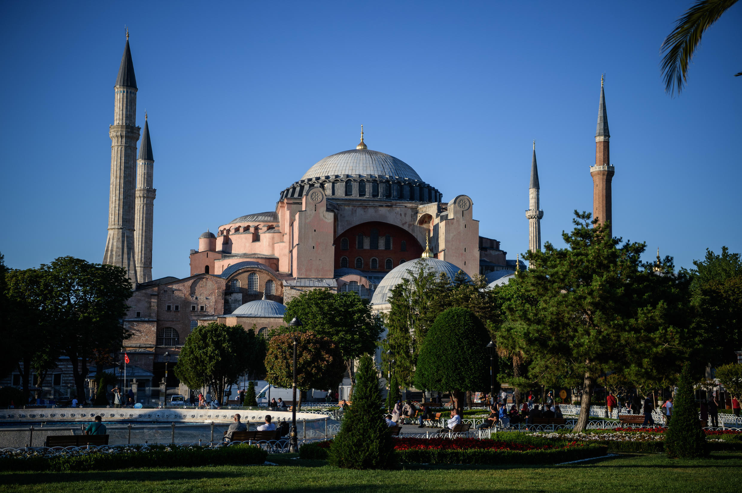 Hagia Sophia, the sixth-century Istanbul building that was formerly a cathedral and a mosque, has been a museum since 1935, open to believers of all faiths.