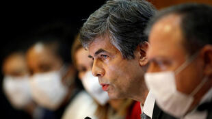 Brazil's Health Minister Nelson Teich speaks at a news conference, amid the coronavirus disease outbreak in Brasilia, Brazil, May 15, 2020.
