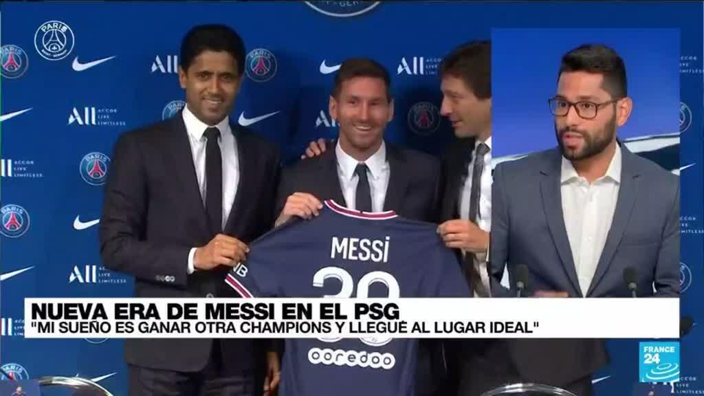 """2021-08-11 14:31 Juan Pupiales: """"Aún no se conoce cuándo será el debút de Messi en el PSG"""""""