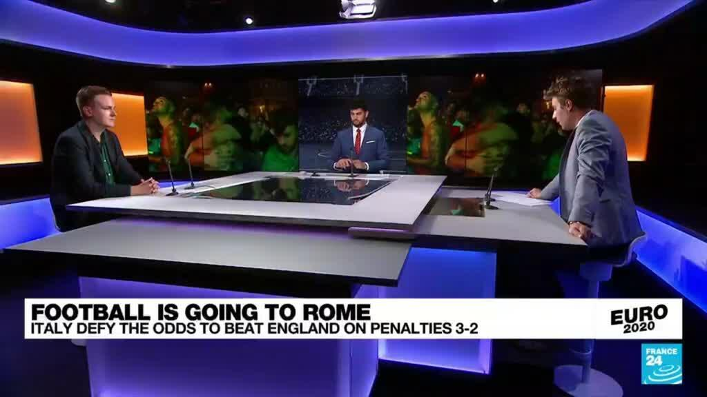 2021-07-12 00:15 Euro 2021: Italy defy the odds to beat England on penalties 3-2