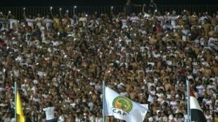 مهور الزمالك خلال المباراة امام انييمبا في القاهرة في 15 آب/اغسطس 2016