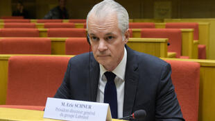 Le PDG du groupe Lubrizol, Éric Schnur, devant la mission d'information de l'Assemblée nationale, le 22 octobre 2019.