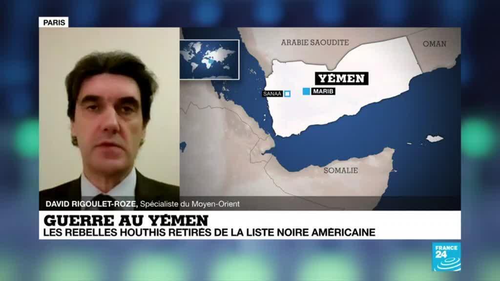 2021-02-16 21:10 Guerre au Yemen, les rebelles Houthis retirés de la liste noire américaine