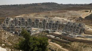 Vista general de la construcción de asentamientos judíos en Cisjordania ocupada, el 31 de julio de 2019.