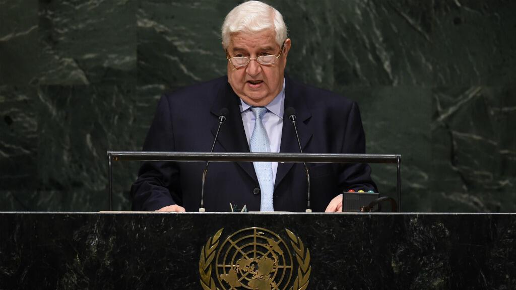 Le ministre syrien des Affaires étrangères, Walid Mouallem, à la tribune de l'ONU le 29 septembre 2014.