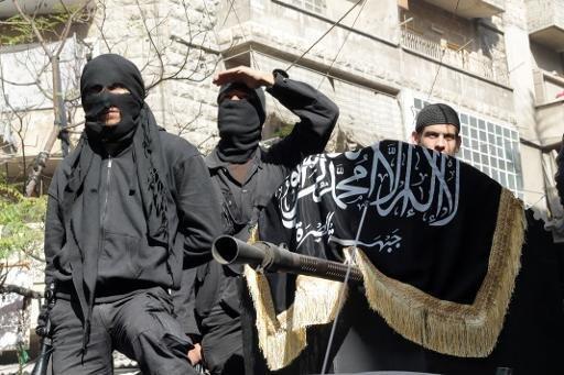Members of the al Qaeda-linked group the al-Nusra Front in Aleppo, Syria, October 2013.