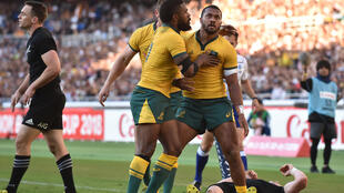 Sefa Naivalu has scored five tries in 10 Australia Tests