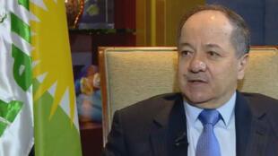 Massoud Barzani, le président de la région autonome du Kurdistan irakien a rappelé l'importance du rôle de la France dans la reprise de Mossoul en Irak, le 9 septembre 2016.