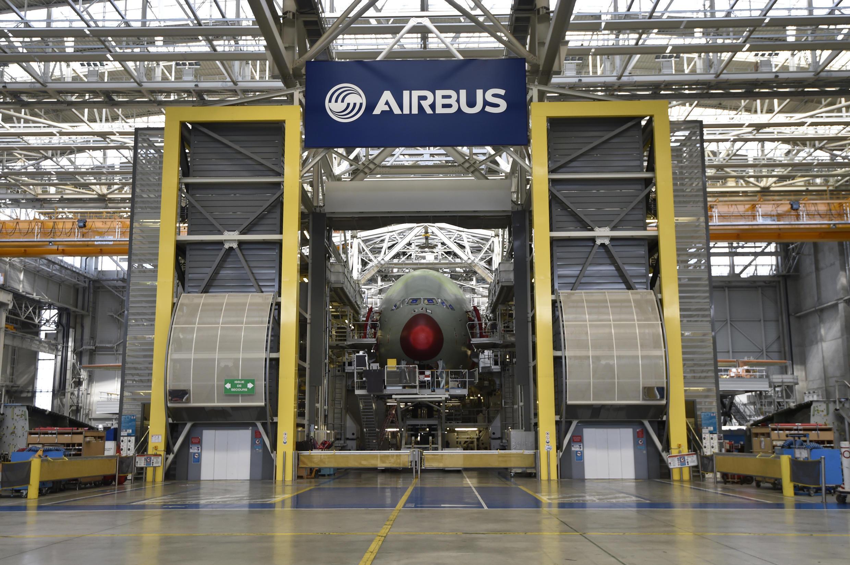 La planta de ensamblaje del Airbus A380 en Blagnac, en el sur de Francia, en una imagen del 21 de marzo de 2018