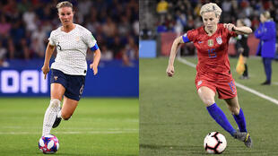 Amandine Henry, la capitaine de l'équipe de France et Morgane Rapinoe, celle des Etats-Unis seront opposées en quart de finale.