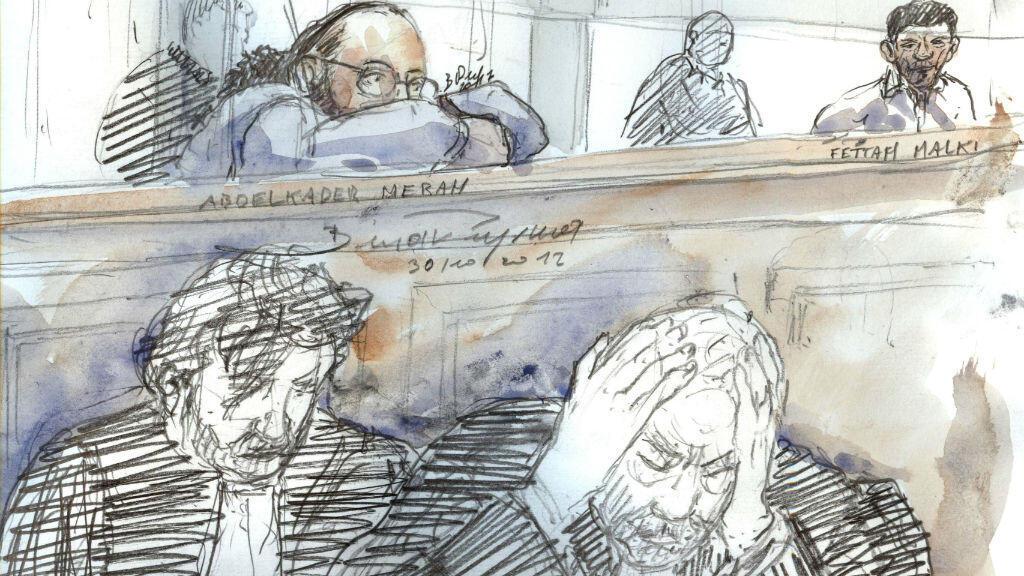 Abdelkader Merah, dans le box des accusés, le 30 octobre 2017, à la cour d'Assises de Paris.