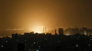 طائرات حربية إسرائيلية تنفذ نحو مئة غارة على مواقع لحركة حماس في قطاع غزة- 2019/03/14.