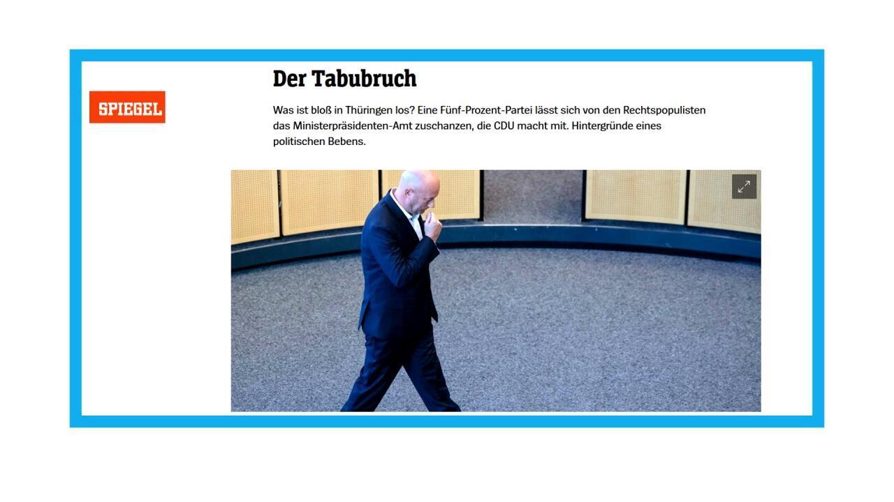 Thomas Kemmerich élu en Thuringe avec les voix de l'extrême-droite