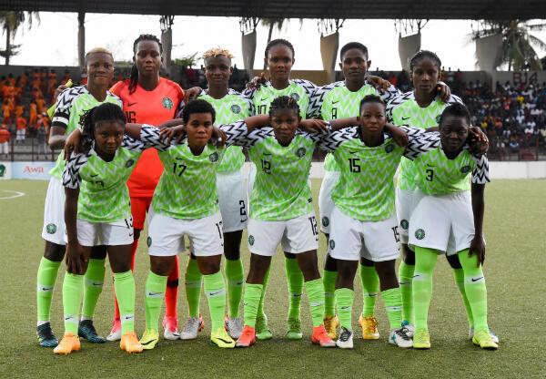 L'équipe du Nigeria lors d'un match contre la Côte d'Ivoire, le 18 mai 2019.