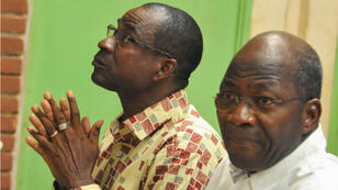 Les généraux Gilbert Diendéré et Djibrill Bassolé, cerveaux présumés du coup d'État manqué de 2015.
