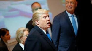 El presidente de EE.UU., Donald Trump, participa en el 48º Foro Económico Mundial hoy, 25 de enero de 2018.