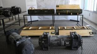 Les missiles Javelin retrouvés par le Gouvernement l'union nationale exposés le 29 juin 2019.