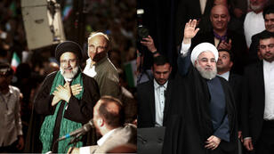 Ebrahim Raissi (G) et Hassan Rohani (D) sont les deux principaux candidats à l'élection présidentielle iranienne du 19 mai 2017.
